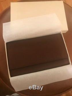 Rare Original And Authentic Stamped Rolex Brown Leather Three Watch Travel Case