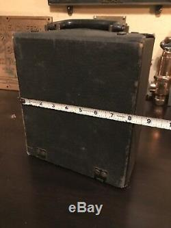 Rare VEEDOL Oil Salesman Sample Leather Case Gas Advertising Sign Tidewater Co