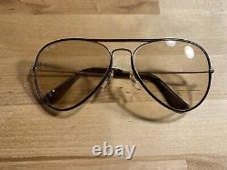 Rare Vintage Ray Ban Bausch & Lomb Rare Leather Aviators with Case