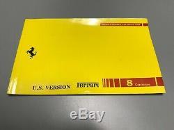 Rare set Ferrari 348 Tool Kit Bag & Technical Manual in original leather cases