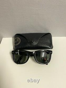 Ray Ban Folding Wayfarer RB4105 601 50/22 140 3N With Original Leather Case