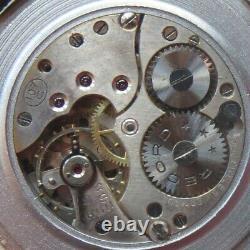 Record Triple Date mens wristwatch nickel chromiun case load manual all original