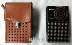 Regency TR-1 Transistor Radio in Original Leather Case 1950s Radio Old Tech