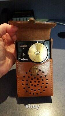 Regency, Transistor Pocket Radio Receiver, TR-1 with Original Leather Case