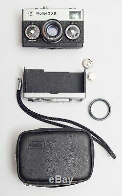 Rollei 35 S Film Camera With Sonnar 40mm Lens f2.8 Original Leather Case + ring