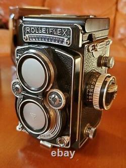 Rolleiflex 3.5E3 Planar With Leather Case, Cap, Accessories, Original Box Nice