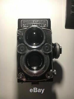 Rolleiflex 3.5F 75mm Xenotar + Original Rolleiflex Leather Case