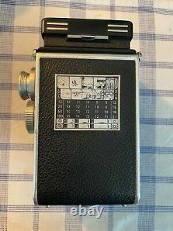 Rolleiflex 3.5 xenar fixed viewer (original leather case and lens cover)
