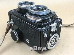 Rolleiflex Black Baby Rollei TLR with Xenar 60mm 3.5 Lens withOriginal Leather Case