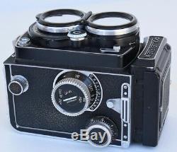 Rolleiflex Film Camera Vintage With Original Leather Case