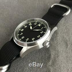 San Martin Men's Pilot steel Case Automatic Watch 20ATM Sapphire Glass NH35MOV'T