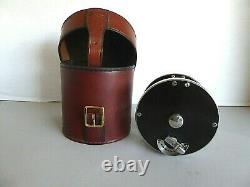 Saracione Deluxe Salmon/Steelhead Reel 3 1/2 withoriginal hard leather case