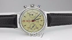 Seagull Chronograph Man Wristwatch Pilot 304 St19 1963 Exhibition Case back