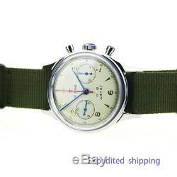 Seagull Chronograph Mens Wristwatch Pilot 304 St19 1963 Exhibition Case back