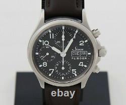 Sinn 356 Flieger Chronograph Automatic, Pilot Mens watch steel case 38mm