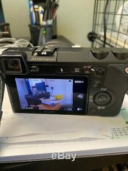Sony NEX-7 camera with lens and original Sony leather case