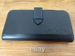 Sony PSVita 3G PS Vita PCH-1100 Black + 16GB memory + original faux leather case