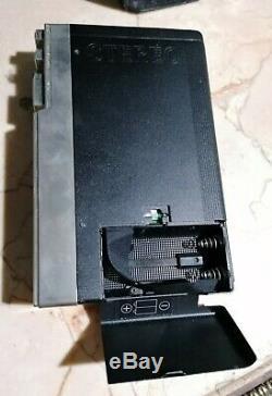 Sony WM3 Walkman Cassette Player With Original Leather Case Vintage 80s
