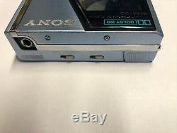 Sony WM-30 restored, blue with original leather case
