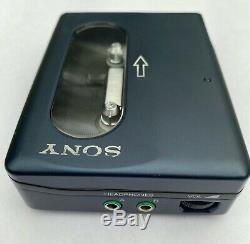 Sony WM-DD33, restored! With original leather case. Blue color RARE