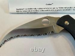 Spyderco Civilian G-10 Blade Factory New In Leather Case With Literature. RARE