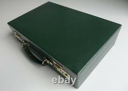 Swaine Adeney Brigg box attaché writing case Jaguar green 1970s excellent cond
