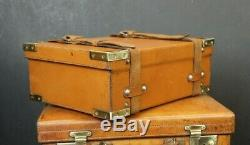 Tan Leather Vintage Cartridge Case