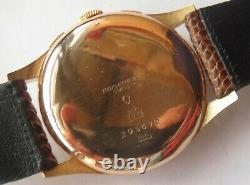 Titus Chronograph mens wristwatch 18K solid gold case all original cal. Landeron