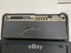 ULTRA RARE JOHNSON JM250 Full Stack withJ12 Foot Pedal and original leather cases