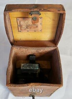 US ARMY WW2 M4 Sight 60mm Mortar Optik & leather Carrying Case M14