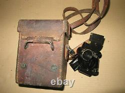 US WW2 Sight dated 1943 60mm Mortar Leather Carry Case m14 Light M35 Extention