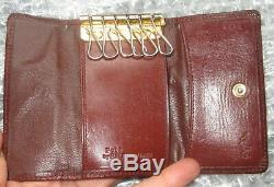 Ultra RARE Polo Ralph Lauren Leather Blackwatch Plaid 6 Key Holder Case Wallet