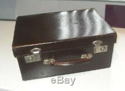 VINTAGE 1960/70s GENUINE DOCTORS MEDICAL DRAWERS COMPARTMENT LEATHER CASE BAG