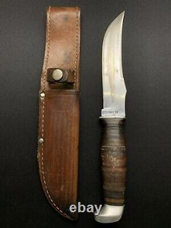 VINTAGE 1960s CASE XX 323-6 Fixed Blade Hunting Knife $ Sheath Vietnam Era USA