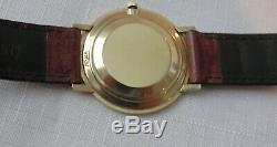 VINTAGE 1960s LECOULTRE MANUAL-WIND WATCH 14K GOLD CASE ORIGINAL DIAL CROWN
