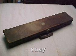 VINTAGE HARDWOOD & LEATHER GUN CASE With ORIGINAL HARDWARE