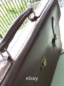 VINTAGE Leather Briefcase Case BARROW HEPBURN England Govt Despatch Box Maker