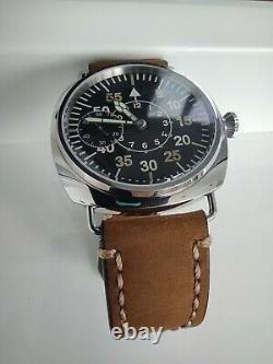 VINTAGE Pilot style watch on the ChK-6 movement. Panerai stainless steel case