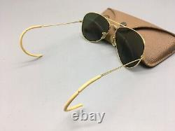 VINTAGE RAY BAN B&L 58 14 AVIATOR SUNGLASSES Wrap Around with case