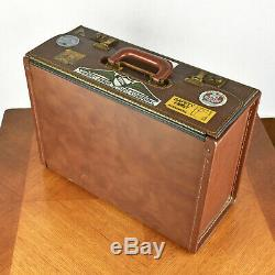 VTG Faux Leather Pilot Map Brief Case Legal Doctor Attorney Lawyer Attache Bag