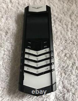 Vertu Signature S Design Black And White With BLACK ORIGINAL Leather CASE