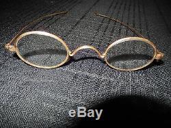 Vintage 10k Gold Eyeglasses Frame With Original Leather Case