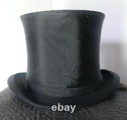 Vintage 1900's Silk Top Hat & Collapsible Hat With Leather Case