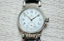 Vintage 1913`s Original Swiss movement Wide Face SKELETON rare New Cased Watch