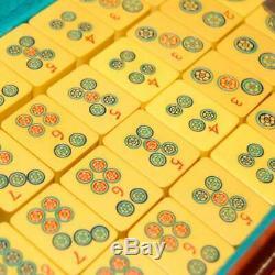Vintage 1930's Chinese Bakelite Mah Jong Set 148 Tiles Original Leather Case