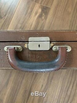 Vintage Antique Leather And Wood violin case W E Hill and Sons London