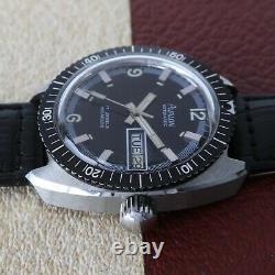 Vintage Avalon Day-Date Diver Screwdown Crown, All SS Case Very Nice Original