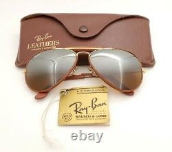 Vintage B&L Ray Ban Bausch & Lomb B15 TGM Leather Aviator 58mm withCase