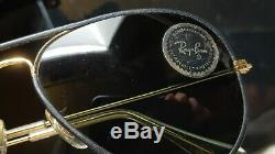 Vintage B&L Ray Ban Bausch & Lomb G15 Aviator Z0647 Black Leather 58mm withCase