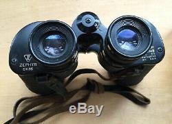 Vintage Bausch & Lomb Zephyr Binoculars 9x35 with Original Leather Case & Box